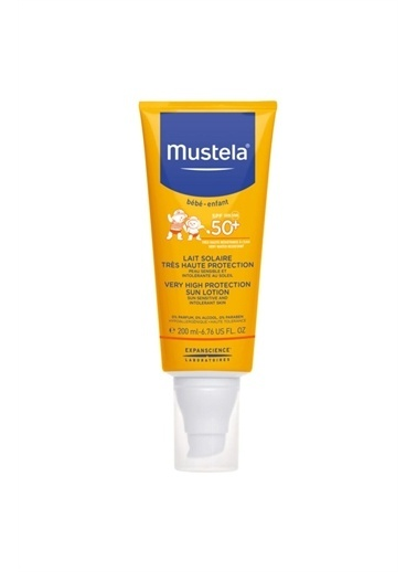 Mustela Mustela 50 Koruma Faktörlü Very High Protection Sun Lotion Spf50 + Güneş Spreyi 200 ml Renkli